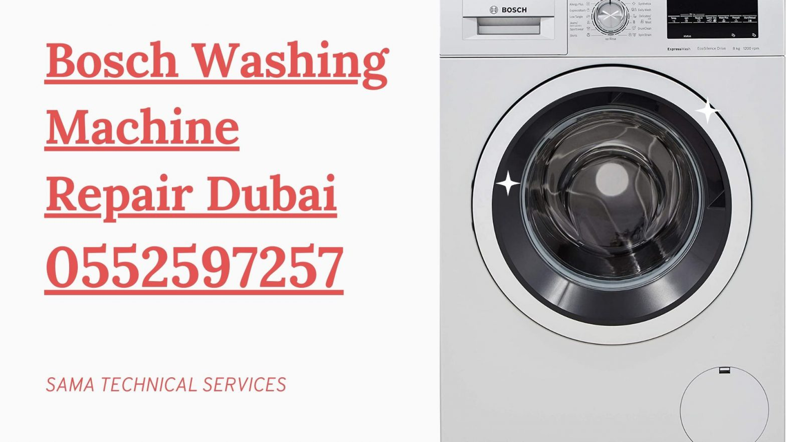 Bosch Washing machine repair Dubai